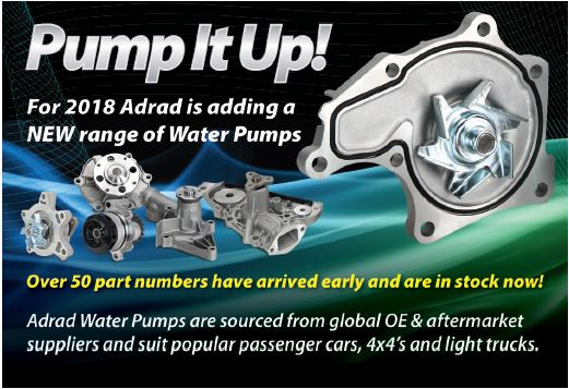 New Water Pump Range for 2018