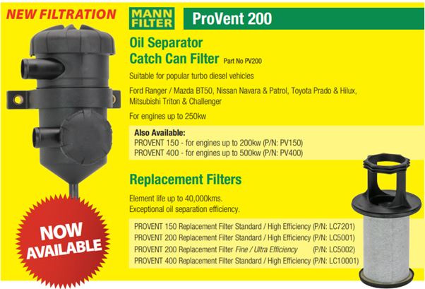 Now in Stock – Mann Filter Oil Separator Catch Can Filter